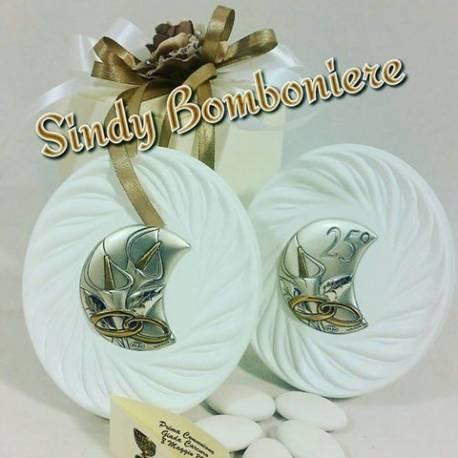 Bomboniere in argento per matrimonio good elegant for Chiessi e fedi arredo bagno
