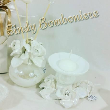 Favori Bomboniere eleganti per matrimonio di porcellana e swarovski | eBay KA75