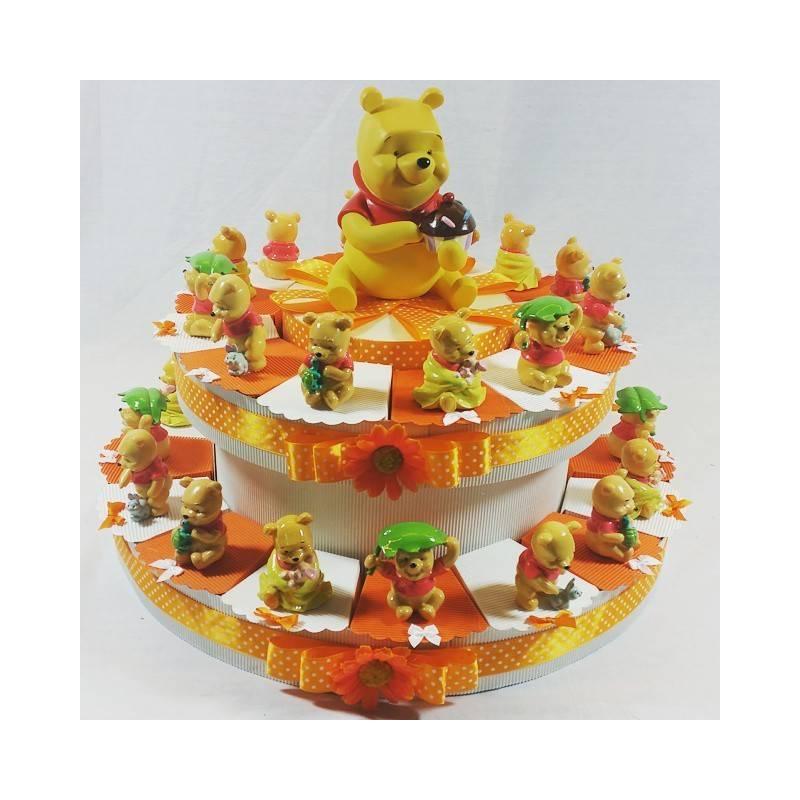 Torta bomboniera winnie the pooh nascita battesimo