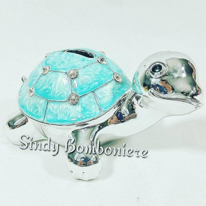 Bomboniera fai da te tartaruga salvadanaio celeste con for Tartaruga prezzo