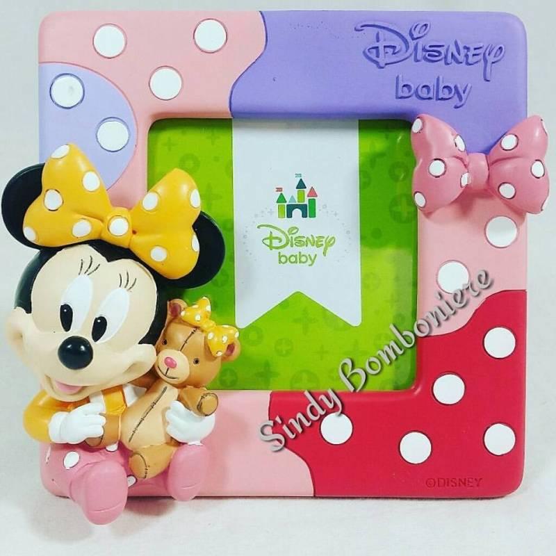 Super Portafoto Disney Minnie BABY BOMBONIERE Battesimo COMPLEANNO nascita QX07