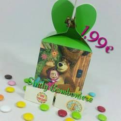 Scatoline portaconfetti confezionate economiche Masha e Orso per compleanno