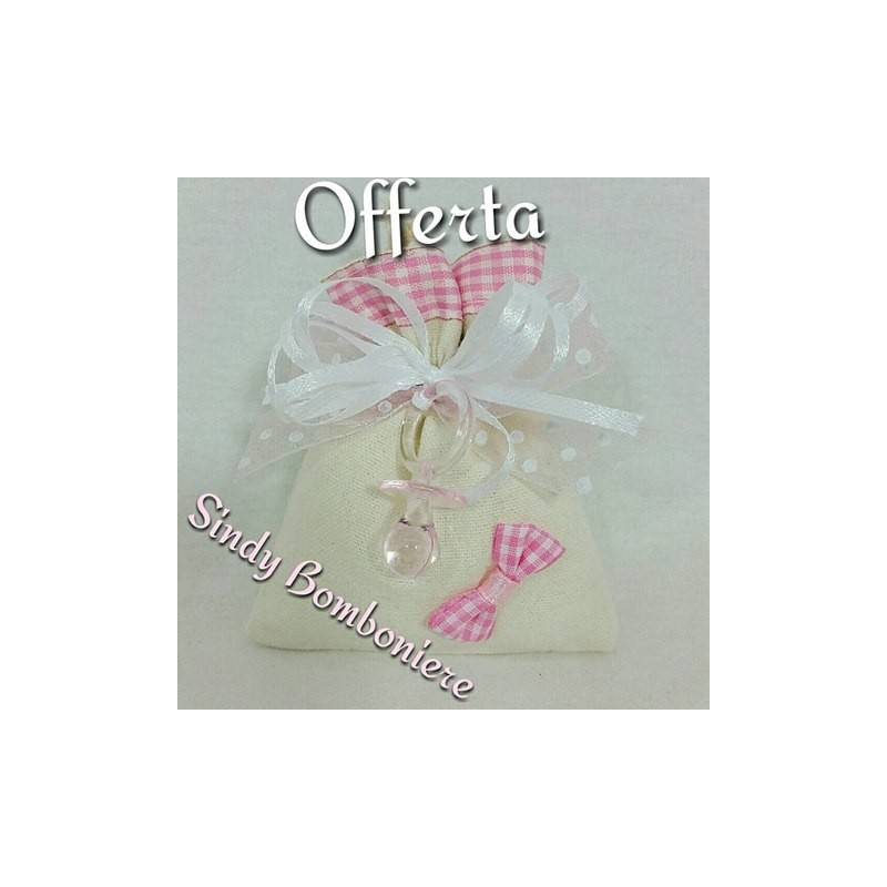 Favoloso Idee sacchetti nascita bimba confetti rosa JB71