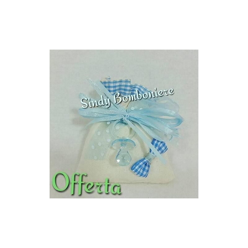Popolare Idee per sacchetti nascita bimbo confetti azzurri QM66