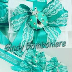 Sacchetti Bomboniere coccinella Tiffany con strass
