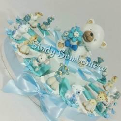 Torta bomboniera bimbo Orsetto linea Missy e animaletti assortiti SN646 nascita battesimo primo compleanno