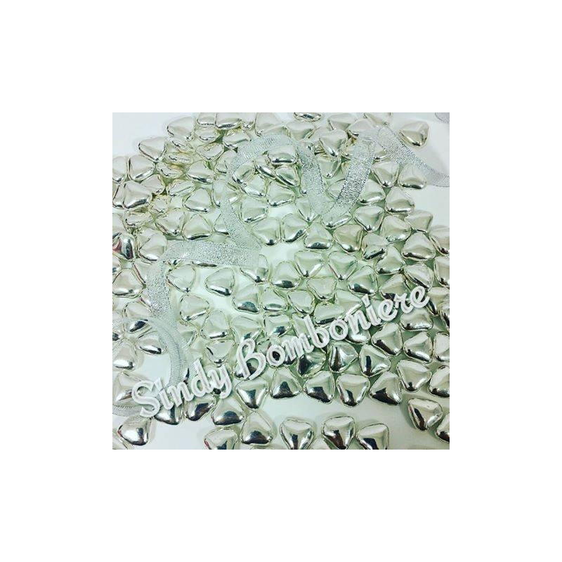 Confetti cuoricini mignon argentati colore argento for Regali per venticinquesimo