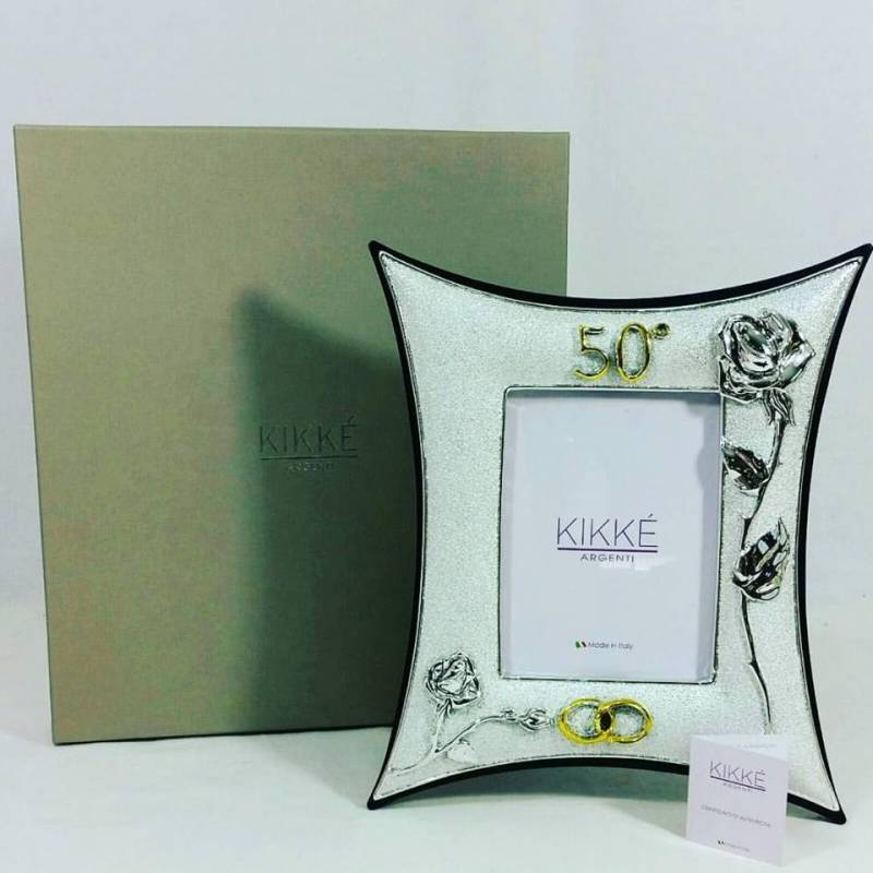 Ben noto Cornice argento Classic Rose di Kikkè Argenti 50° anniversario di  QR71