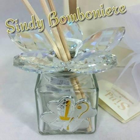 Profumatore cresima in cristallo e argento bomboniere on line