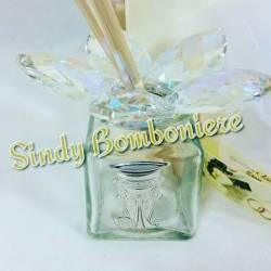 Profumatore comunione in cristallo e argento bomboniere on line