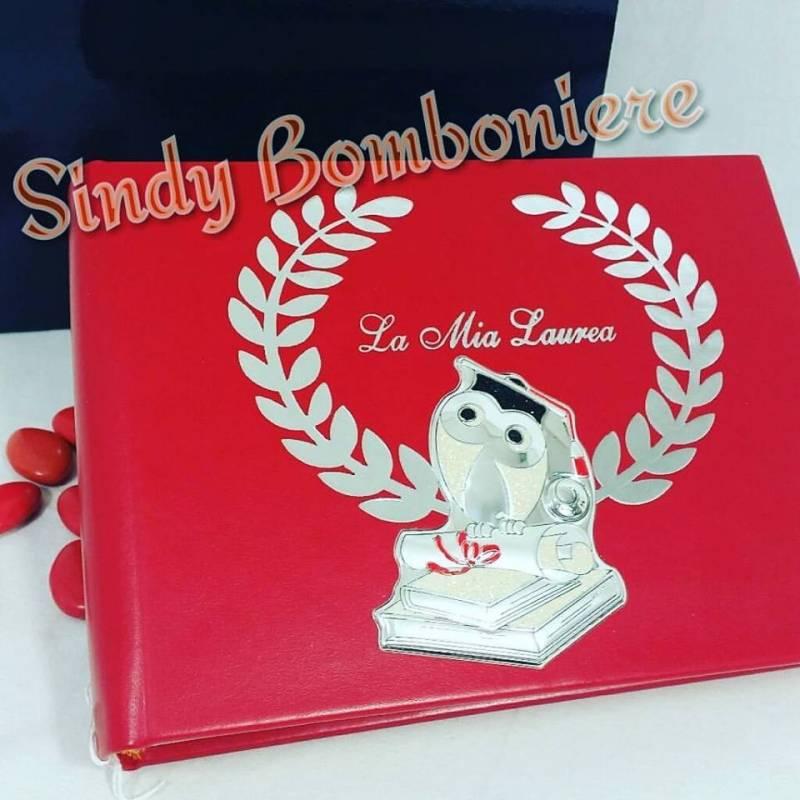 on line Regali per laurea Album per foto in Pelle rossa con scatola regalo 8429cf39757a