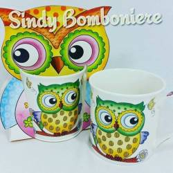 idea regalo tazza Mug con gufi stilizzati