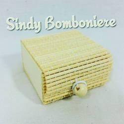 Scatolina portaconfetti in bambù per confetti bomboniere