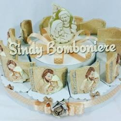 torta di bomboniere icona sacra famiglia