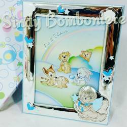 Portafoto argento per bambini nascita, battesimo