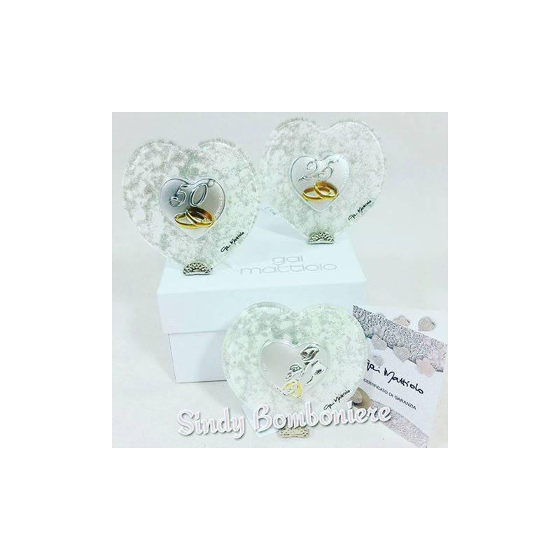 Bomboniere argento matrimonio anniversario di nozze 25 e for Regali per venticinquesimo