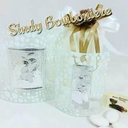 Sacra Famiglia argento su vetro fantasia Chiaraela bomboniere