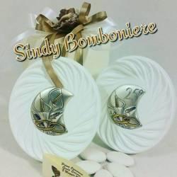 IDEA bomboniere per MATRIMONIO,ANNIVERSARIO in argento complete di confezione