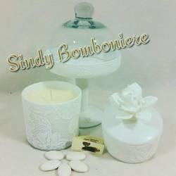 Alzatina in vetro, candela o portagioie idee originali per bomboniere