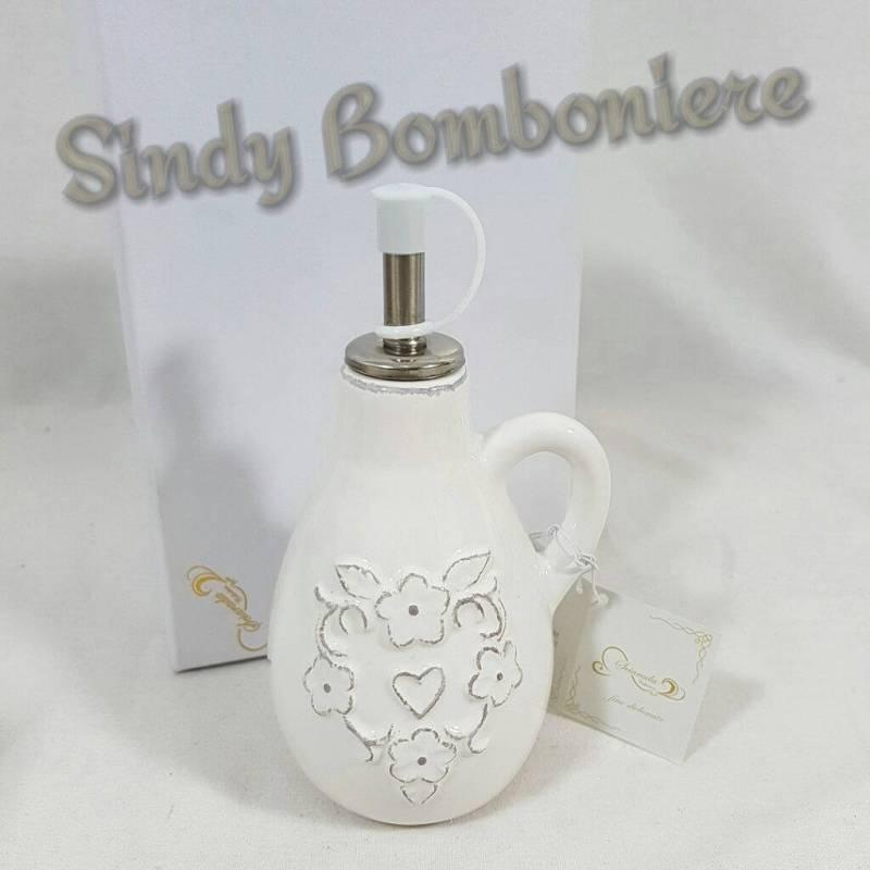Ben noto Bomboniera utile MATRIMONIO Bottiglietta per OLIO in PORCELLANA  GB34