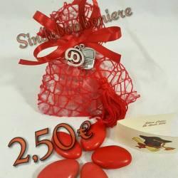 Sacchetti bomboniere laurea informatica ingegneria confetti rossi