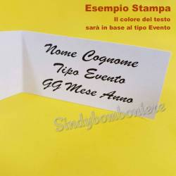 10 Bigliettini personalizzati con frase Nascita e Battesimo STAMPA INCLUSA