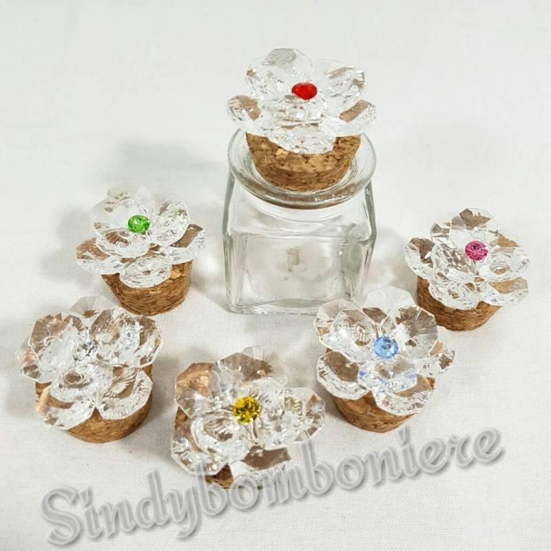 Assez vasetti bomboniere swarovsky fiore originali bomboniere fai da te JA21