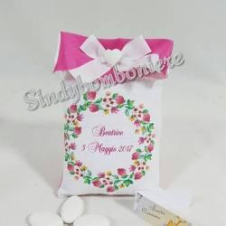 Sacchetti cresima personalizzati bomboniere per femminuccia confetti inclusi e bigliettino