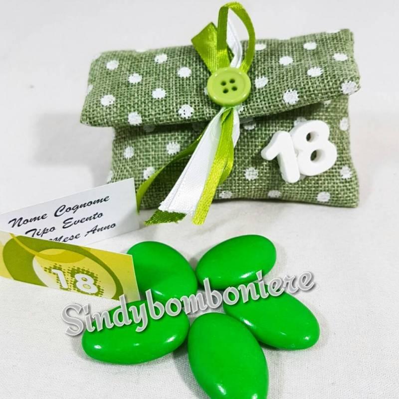 Popolare Sacchetti portaconfetti 18 anni con gessetti profumati YS96