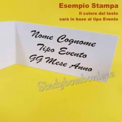 10 Bigliettini Compleanno, Primo Compleanno, Diciottesimo Compleanno personalizzati con frase STAMPA INCLUSA
