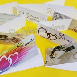 10 Bigliettini Matrimonio, Anniversario, Promessa personalizzati con frase STAMPA INCLUSA