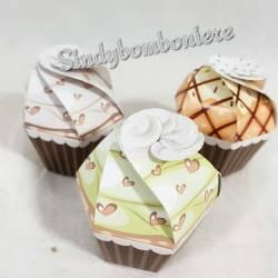 scatoline portaconfetti per confezionare bomboniere battesimo, compleanno 3 PEZZI