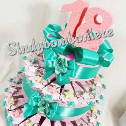 torta bomboniera 18 anni (diciottesimo compleanno) per ragazza portachiavi stella