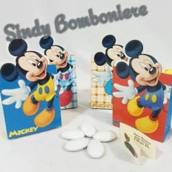 Bomboniere disney topolino scatoline portaconfetti confetti e bigliettino
