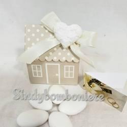 Segnaposto bomboniere matrimonio scatoline portaconfetti con cuore gessetto profumato