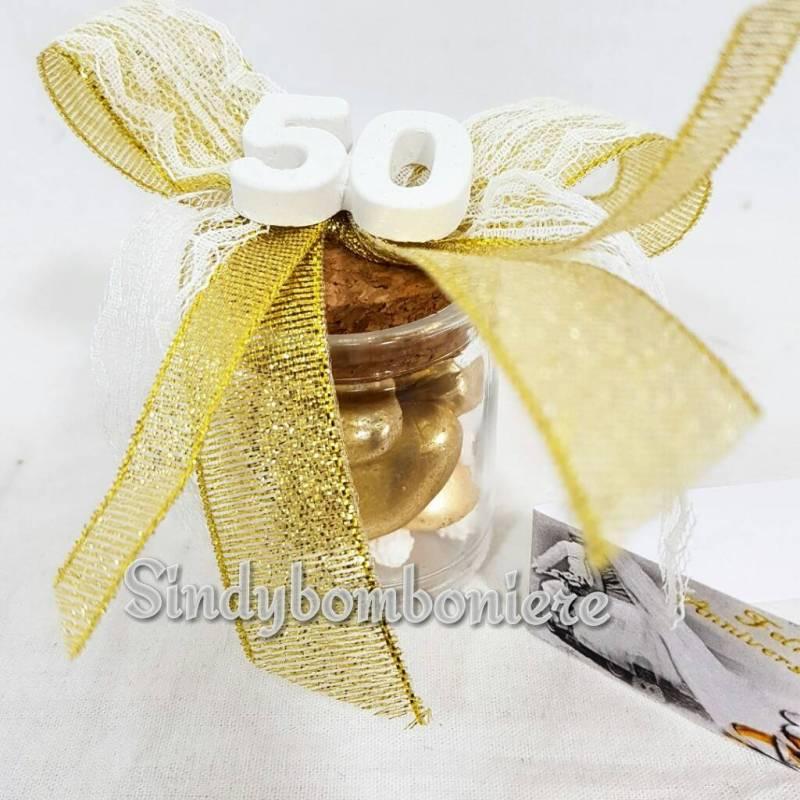 Top Barattoli portaconfetti bomboniere anniversario di matrimonio 50  TP16