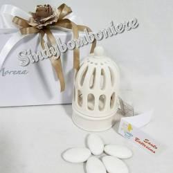 Gabbietta portacandela porcellana morena bomboniere eleganti per matrimonio