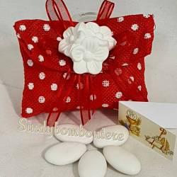 Sacchetto bomboniera cresima laurea fiori gessetti profumati confetti inclusi
