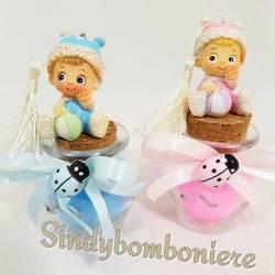 Barattoli bomboniere tappo di sughero con bimba/o nascita, battesimo prezzi offerta