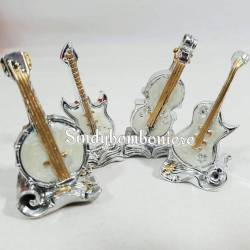 Bomboniera fai da te strumenti musicali h6 cm conservatorio laurea musica madreperla 4 varianti