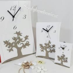Bomboniere orologio albero della vita in legno Carlo Pignatelli idea Matrimonio partecipazioni omaggio