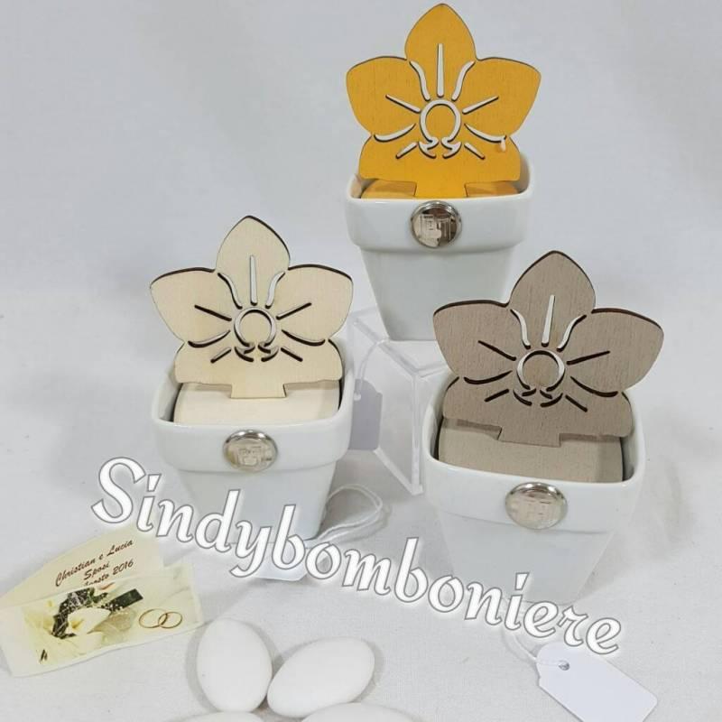 Preferenza Bomboniere diffusori Orchidea Carlo Pignatelli porcellana legno online NK88