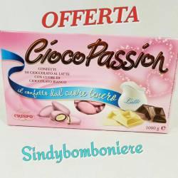 Confetti rosa per bomboniere nascita battesimo Crispo Ciocopassion gusto cioccolato al latte