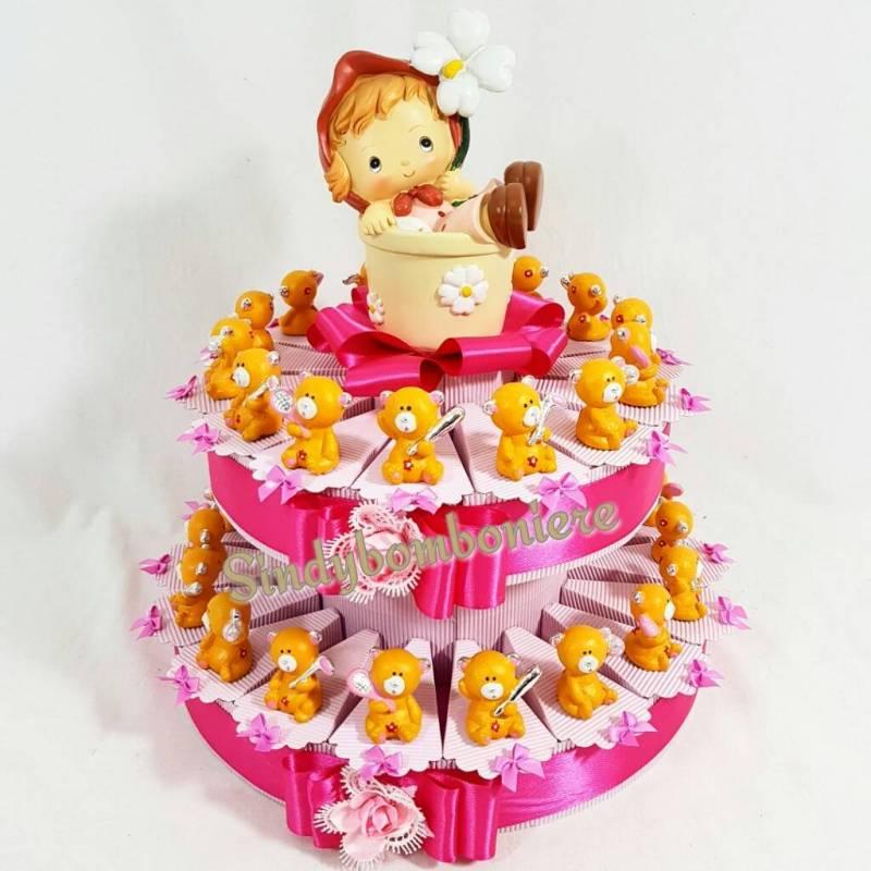 Famoso Torta bomboniera orsetti sport spedizione gratuita compleanno bimba LS18