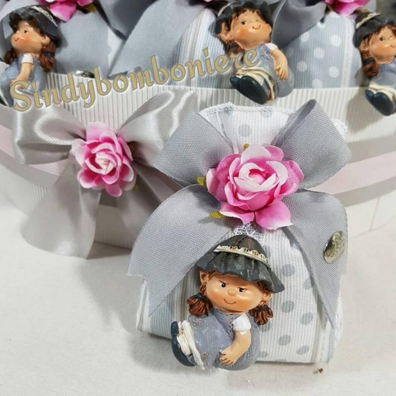 Favoloso Originali sacchetti bomboniere bimba magnete con cesto confezionate UB79