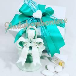 Lanterna porcellana traforata per candela bomboniera elegante ed originale