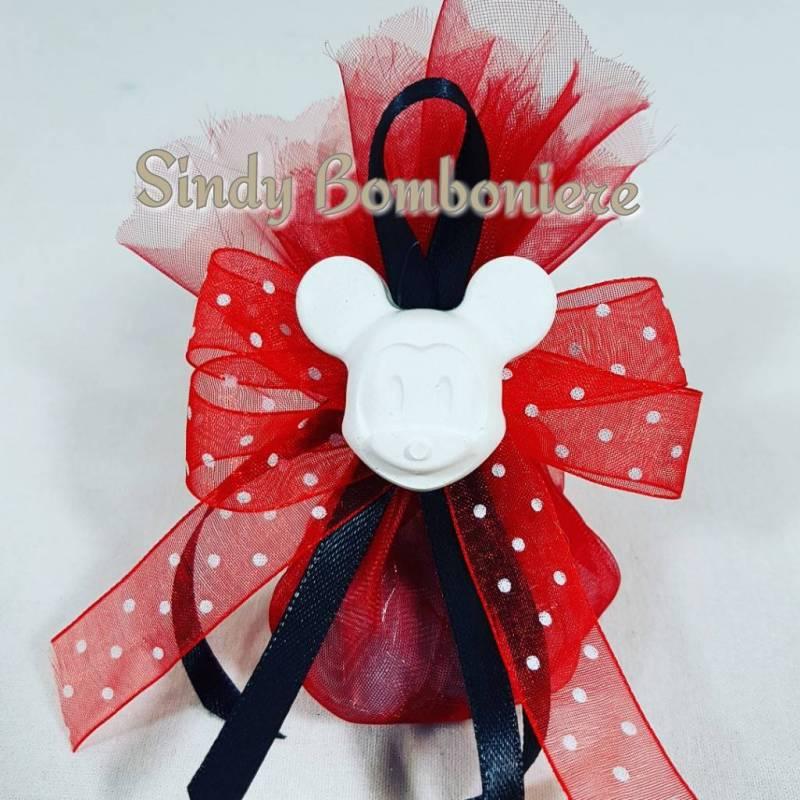 Souvent Bomboniere topolino sacchetto con confetti gessetto profumato RB33