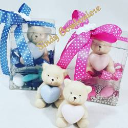 BOMBONIERE orsetto bimbo bimba in confezione con confetti eventi