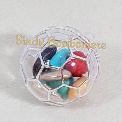 2 PEZZI SCATOLA PORTA CONFETTI in plexiglass a forma di pallone per confetti bomboniera eventi