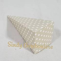 3 pezzi CONI FAI DA TE bomboniere in cartoncino confetti beige a pois eventi